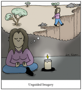 unguided imagery cartoon by loren fishman